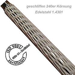 1.4301 Edelstahl V2A h9 geschliffen Korn